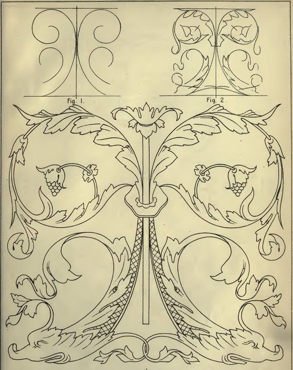Freehand Ornament Drawing Rare Illustrated Book On Decorative Etsy Ornament Drawing Drawings Pattern Art