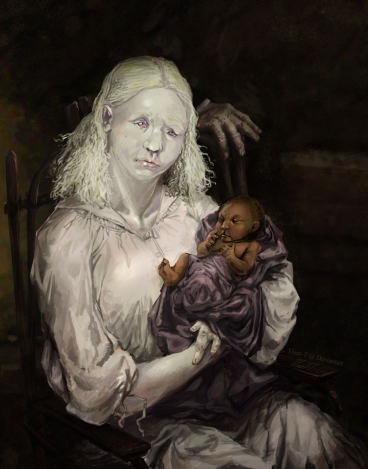 The Dunwich Horror by Viant-T.deviantart.com on @Devianart ''she seemed strangely proud of the dark, goatish-looking infant who formed such a contrast to her own sickly and pink-eyed albinism, and was heard to mutter many curious prophecies about its unusual powers and tremendous future.''