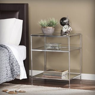 Harper Blvd Knowles Glam Mirrored Side Table – Chrome - Free Shipping Today - Overstock.com - 20931843 - Mobile