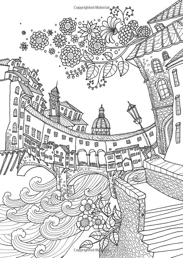 Colorear Europa: Bella Italia: Un libro para colorear recorrido por la capital mundial de la cita perfecta: Il-Sun Lee: 9781626923966: Amazon.com: Libros