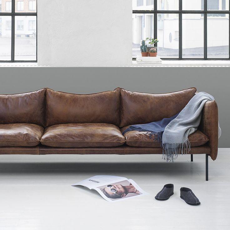 Tiki soffa - 3-sits, natur - Soffor – Möbler från Svenssons i Lammhult