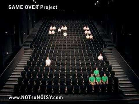 ▶ The Original Human SPACE INVADERS Performance - YouTube