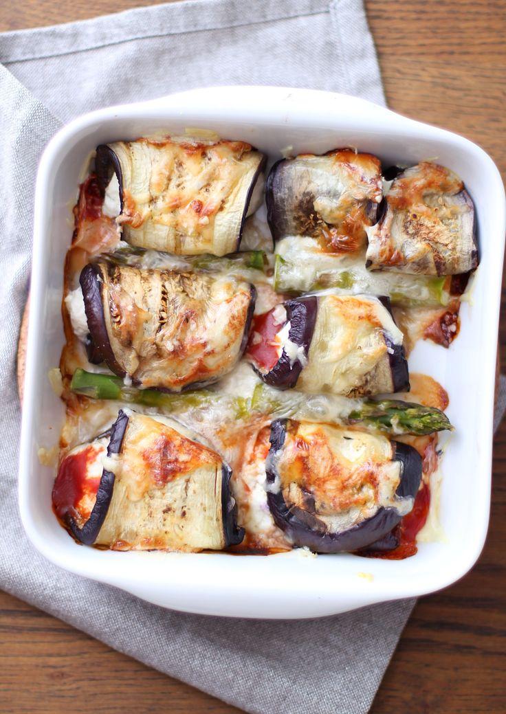 Ostefylte aubergineruller | Sunnere Livsstil