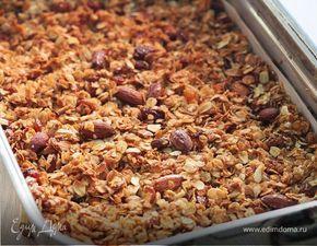 Гранола — домашние мюсли. Ингредиенты: овсяные хлопья, изюм, миндаль | Кулинарный сайт Юлии Высоцкой: рецепты с фото
