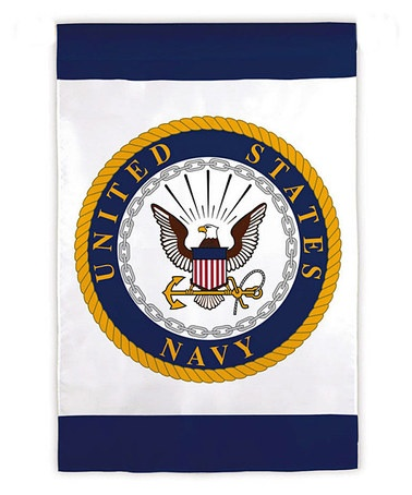 Take A Look At This White Us Navy Emblem Garden Flag By