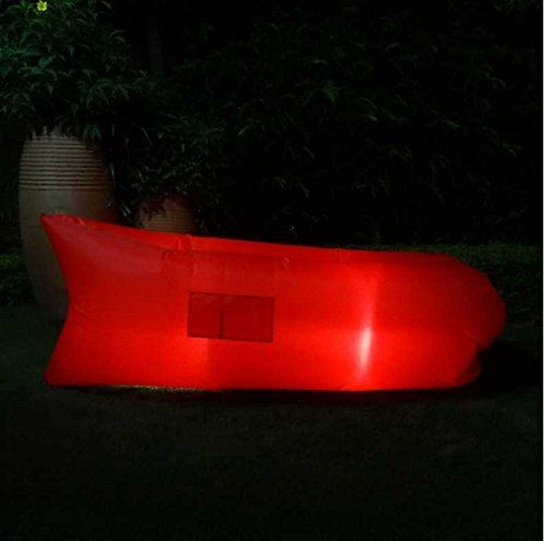 Ciye LED Outdoor Furniture Portable Inflatable Lounge Luminous Air Sofa,Waterproof Indoor and Outdoor Hiking Air Bed Hammock Inflated Lounge Chair ** Wow! I love this. Check it out now! : Air Lounges