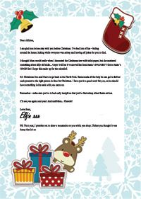 Santa's Elf Leaving Letter