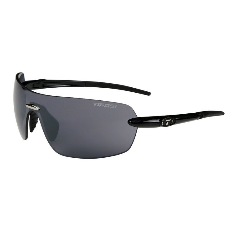 Tifosi DEZ1960_002 Unisex-Adult's Vogel Sunglasses, Gloss Black Smoke. Polycarbonate lens. It is polarized.