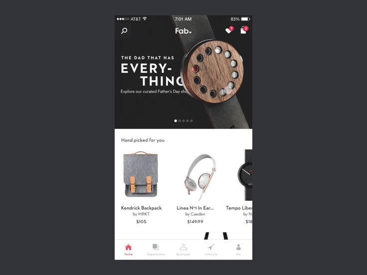 Fab App - Home