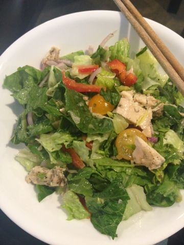 salad with baked chicken breast