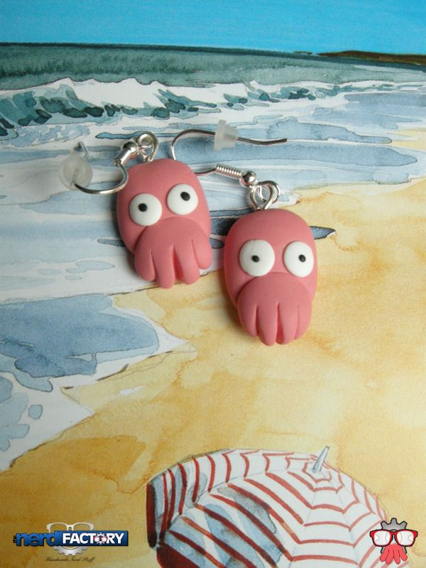 Zoidberg earrings hand-made!