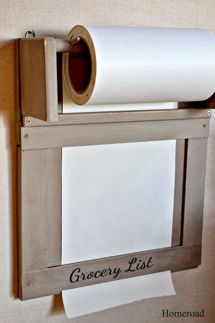Kitchen Paper Roll Grocery List Diy Home Decor On A Budget !