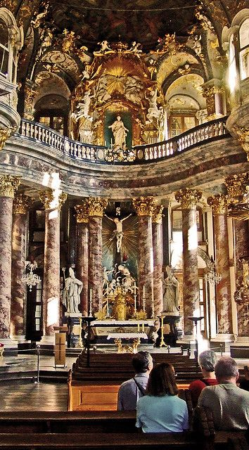 Wurzburg, Germany, The Residenz Chapel- It is so beautiful.  Would love to go back there some day.