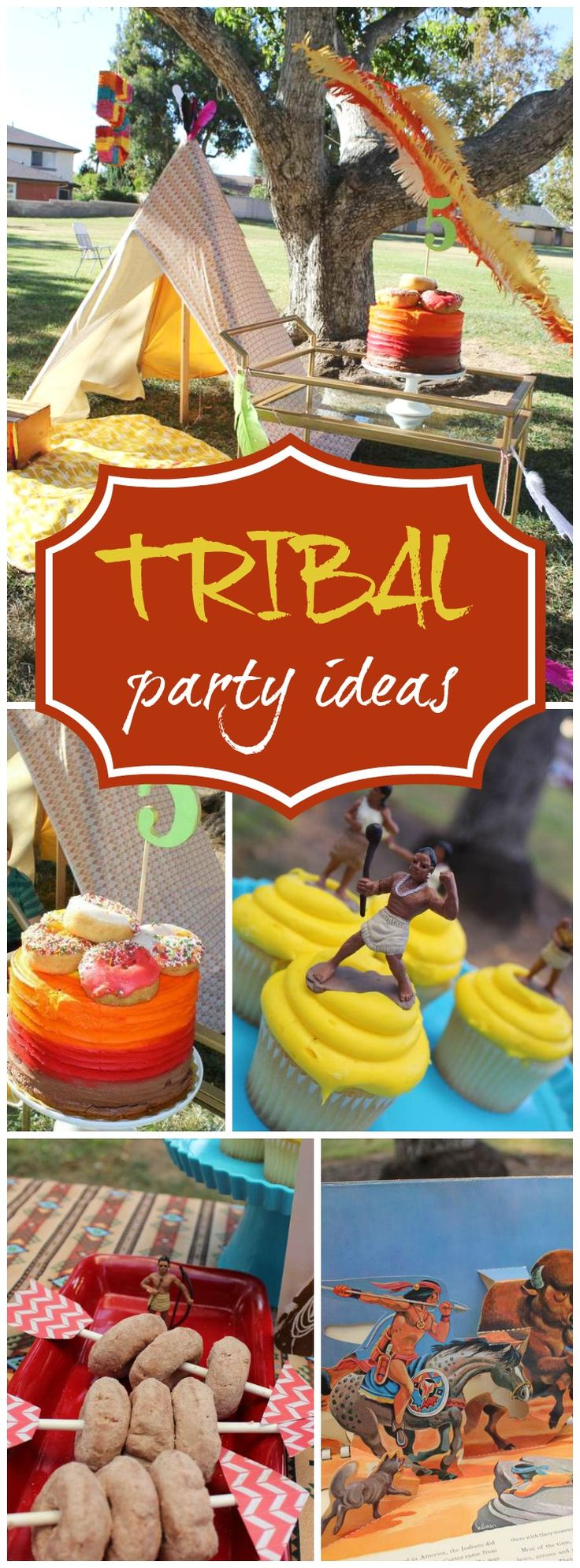 Love this rustic Native American outdoor birthday party! See more party ideas at CatchMyParty.com!