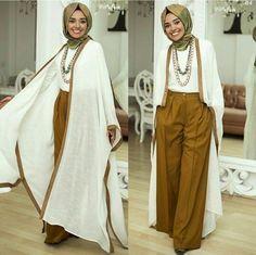 abaya casual style, Hulya Aslan hijab fashion looks http://www.justtrendygirls.com/hulya-aslan-hijab-fashion-looks/