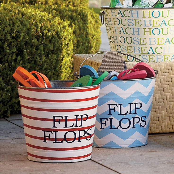 Saw this for 53.00 but could make it myself with metal bucket and some paint. Cute