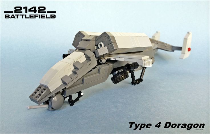 https://flic.kr/p/rGaJuL | Battlefield 2142 Type 4 Doragon | I have made a Futuristic war helicopter for the contest which is in Mocpages. I hope you like it..