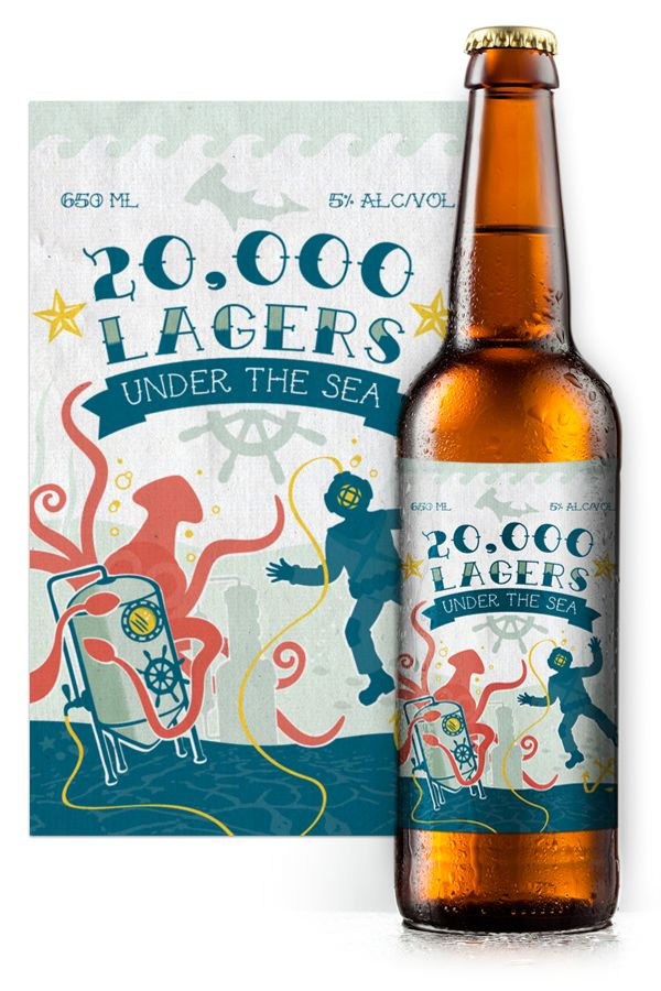 20,000 Lagers Under the Sea book cover beer label
