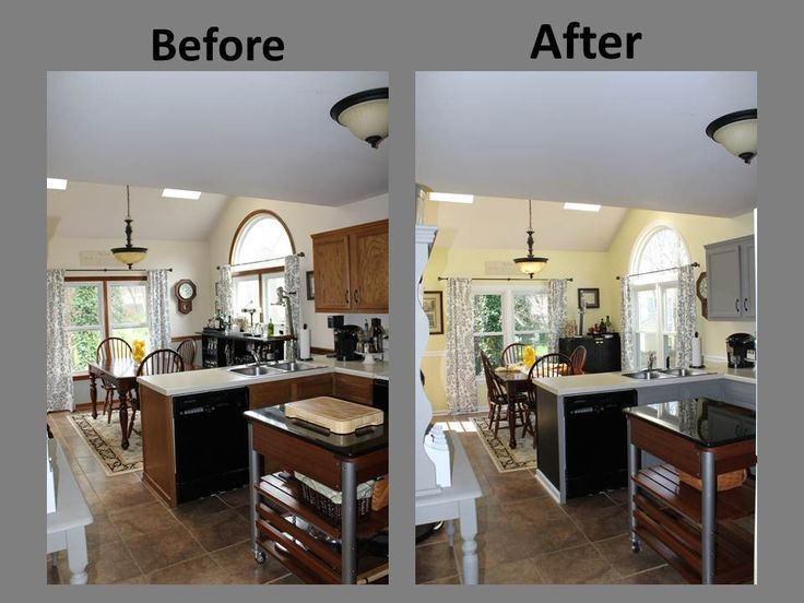 Best Yellow Gray Kitchen Remodel Before After Home Decor 400 x 300