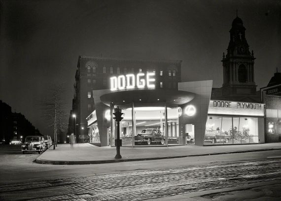 New item in my etsy shopDodge dealership at night New York  reproduction vintage photograph by PanchromaticaDesigns. Find it here http://ift.tt/22qX1ht