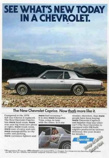1977 Chevrolet Caprice Custom Coupe