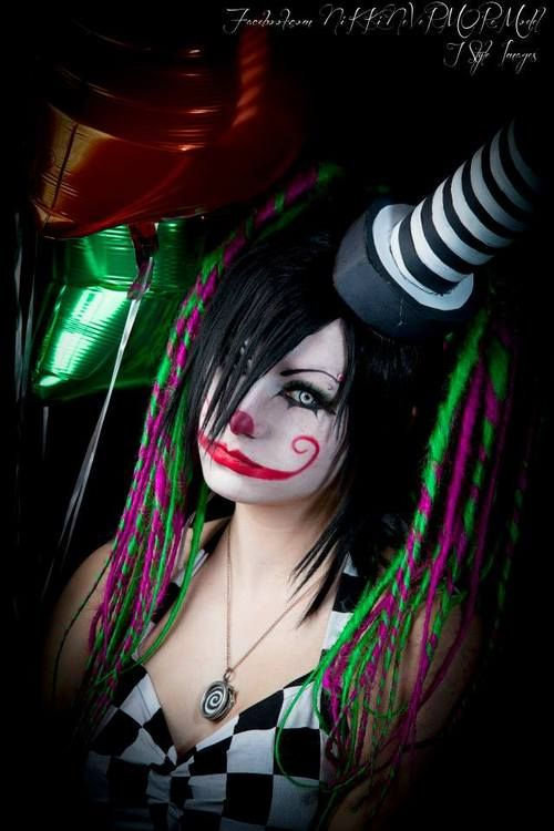 Most Design Ideas Scary Girl Clown Makeup Pictures, And