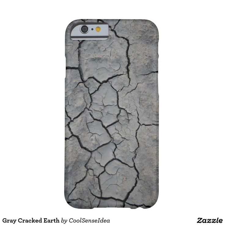 Gray Cracked Earth Barely There iPhone 6 Case