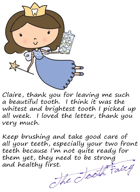 tooth fairy letter tooth letter for your child join the 13835 | 8a594705958f081af424d08124c4add8