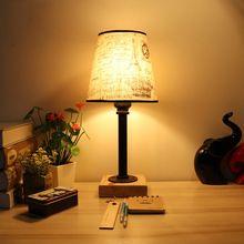 Винтаж ретро-дизайн черный прикроватная пара панк ткань абажур настольной лампы e27/e26 лампы для спальни мастерской мастерская офиса