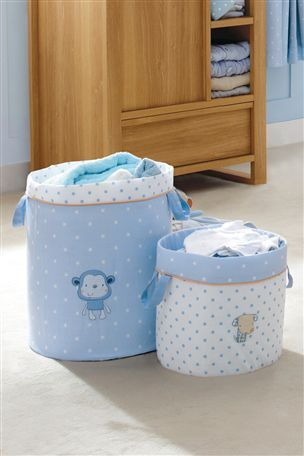 Buy Set of 2 Cheeky Monkey Fabric Storage Tubs from the Next UK online shop