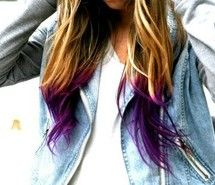 Inspiring picture dip dye, hair, purple. Resolution: 554x318 px. Find the picture to your taste!