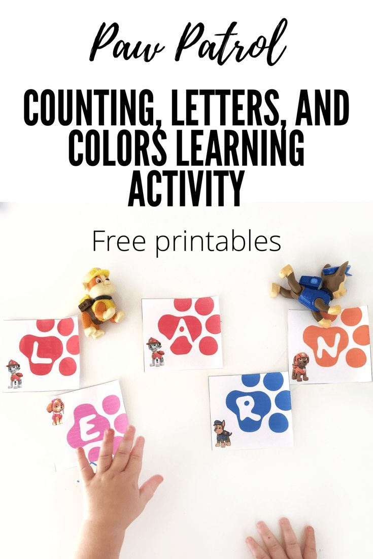 Paw Patrol Learning Activity with Free Printables #pawpatrol #learningactivityforkids #toddler