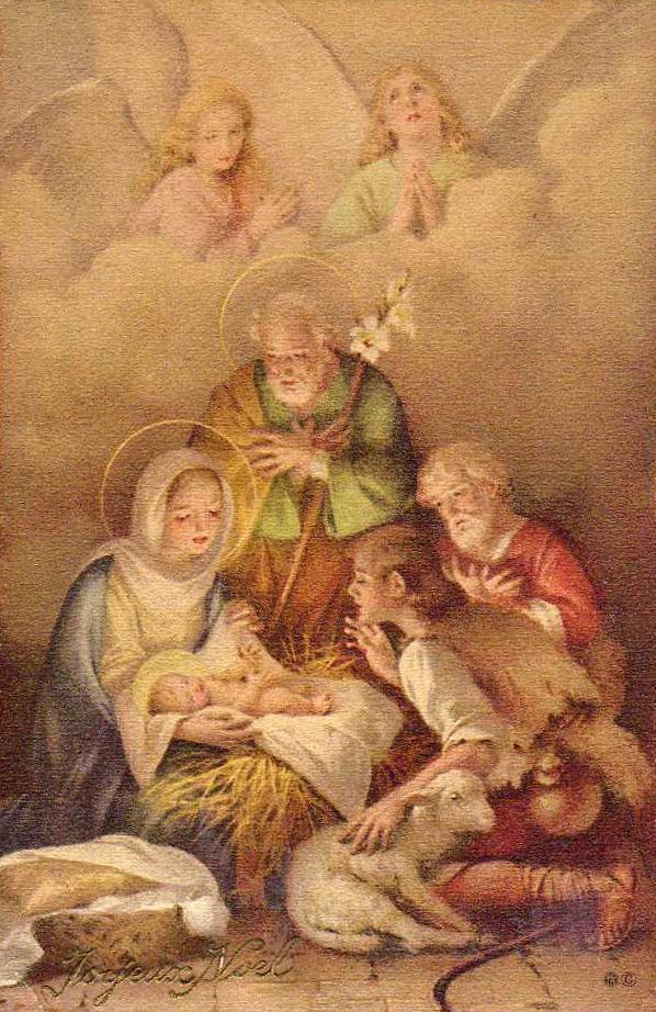13 Best Vintage Nativity Images Images On Pinterest