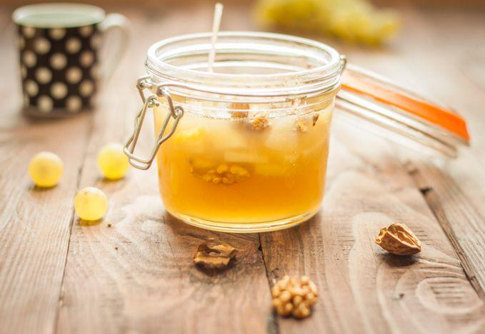 Fruchtig Herbstliche Trauben Marmelade mit Walnuss und Birne - Rock the Taste