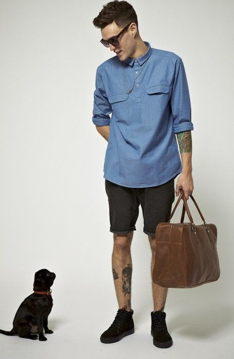 Chambray + Man Bag.