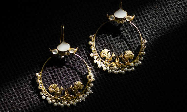 Buy Fab Filigree by Devi Jaipur Gold-Plated Silver Jewelry with Filigree Work & Pearls Online at Jaypore.com