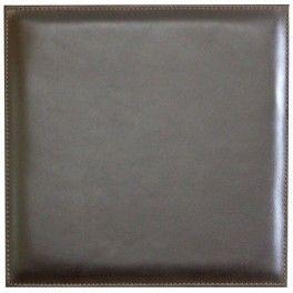 panneau cuir deco mur 15 x 15 cm marron fonce