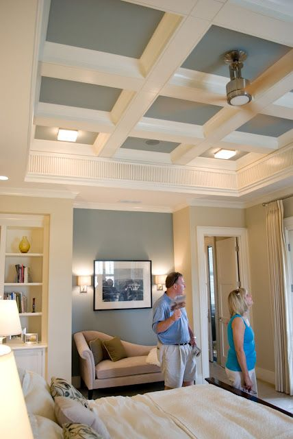 456 best images about house ideas on pinterest master for Coffered ceiling paint ideas