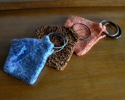 free knitting pattern for cute triangular purses
