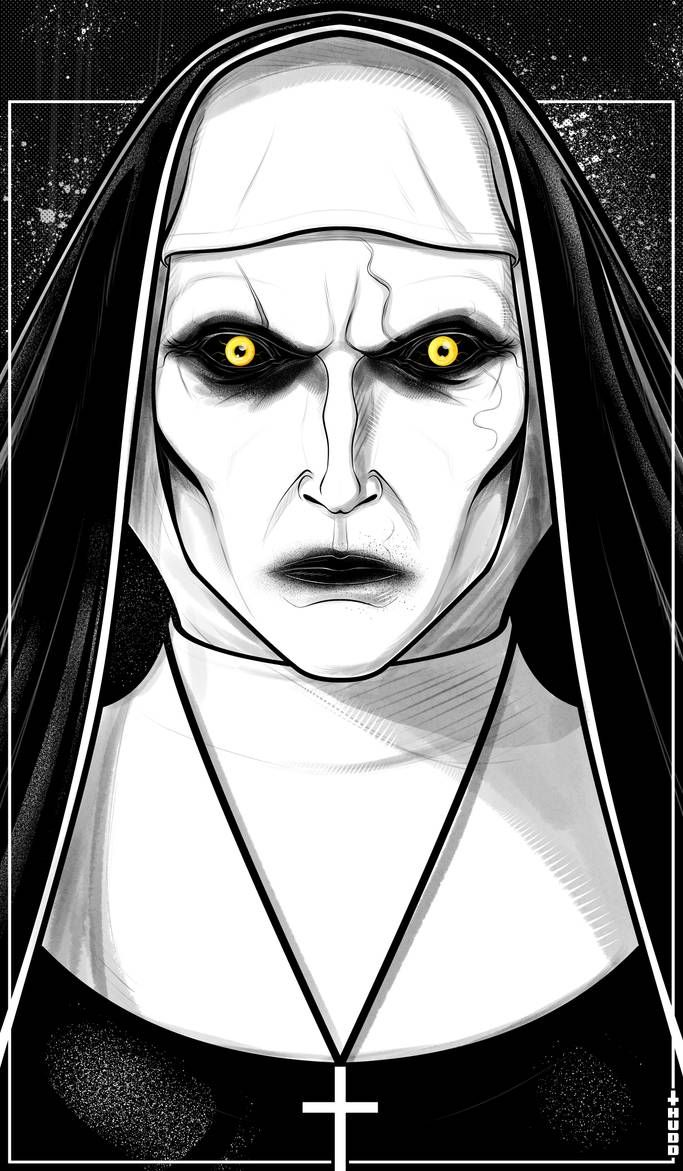 Valak By Thuddleston On Deviantart With Images Scary Drawings