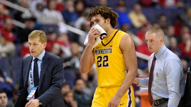 """Minnesota center Reggie Lynch was officially suspended from participating in any university-related events until Aug. 1, 2020 after an investigation by the school's Equal Opportunity and Affirmative Action office found he was """"responsible"""" for an April 28, 2016 """"sexual misconduct in..."""