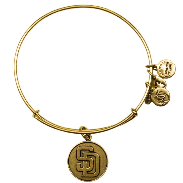 San Diego Padres Alex and Ani Women's Logo Bracelet - Gold