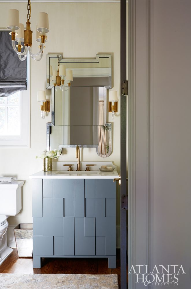 A Julian Chichester Mirror And Custom Vanity By Bradley Add Dose Of Fun To The