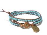 Leren armband 'Dream' - Armbanden door Jewelsenco - Gevlochten armbanden - Leren sieraden - DaWanda