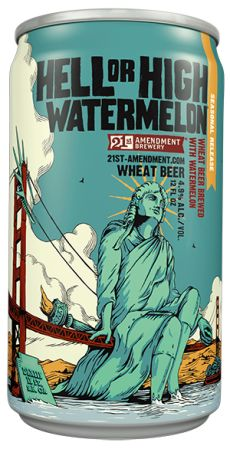 Fresh watermelon is added to this pale straw-colored wheat ale, making it ultra crisp and cool.   - Delish.com