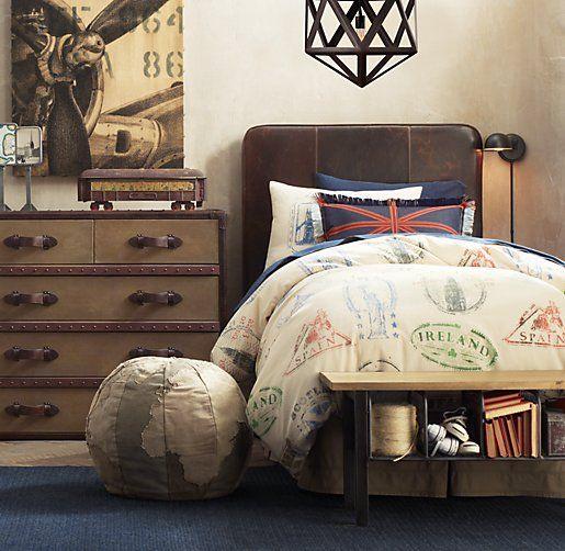 Top 25 Best Vintage Travel Bedroom Ideas On Pinterest