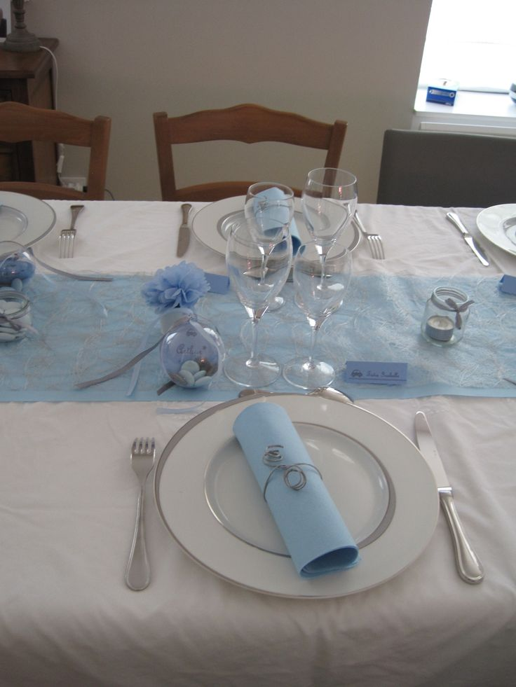 M s de 25 excelentes ideas populares sobre deco table for Decoration de table bleu
