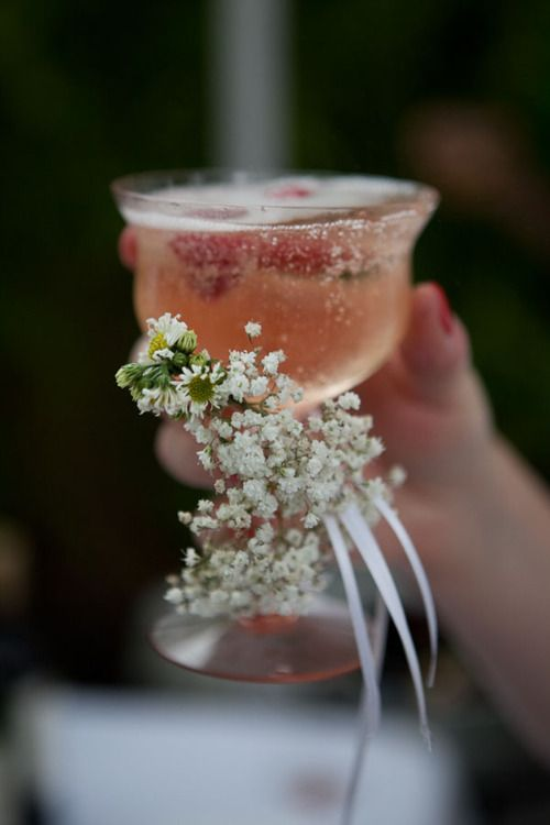 drink glass corsage