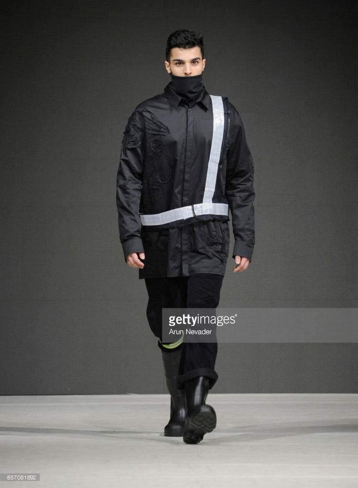 A model walks the runway wearing Tsung Yu Chan at Vancouver Fashion Week Fall/Winter 2017 at Chinese Cultural Centre of Greater Vancouver on March 23, 2017 in Vancouver, Canada.