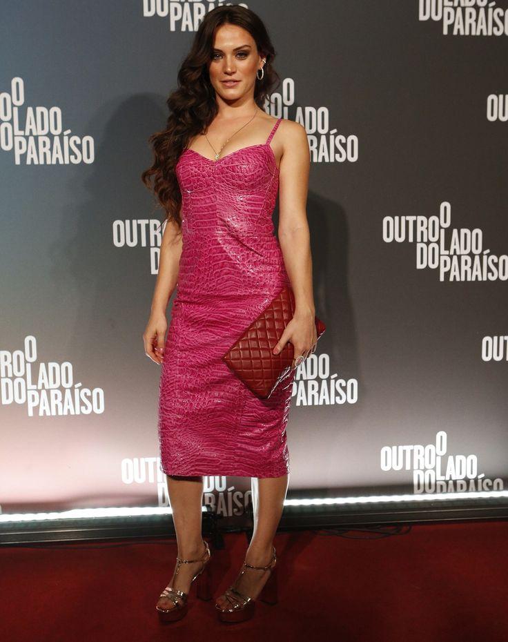 Bianca Bin arrasou muito com o modelito rosa  (Foto: Fábio Rocha/TV Globo)